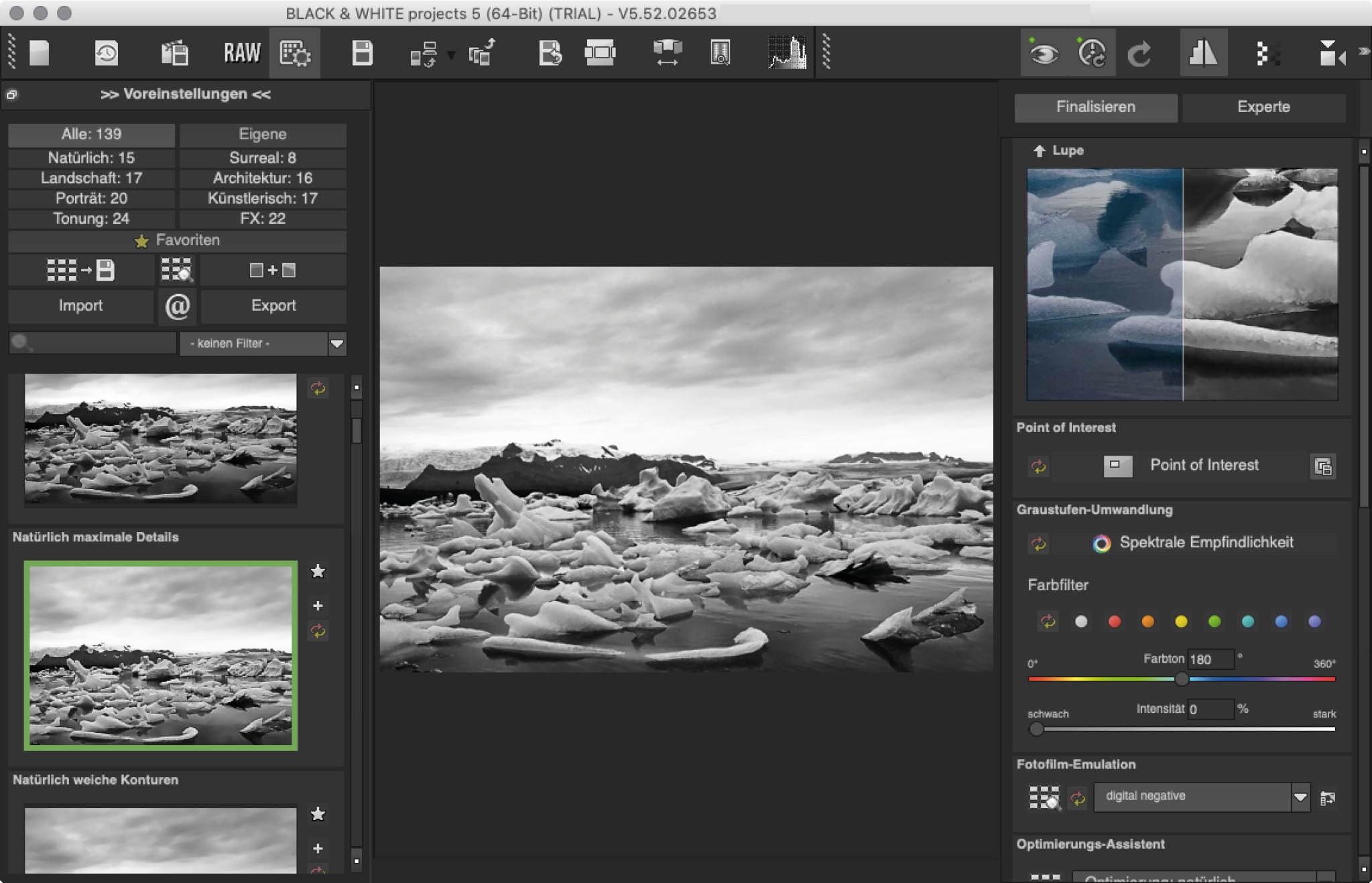 Screenshot 1 - Black & White Projects 5 – Kostenlose Vollversion (Mac)