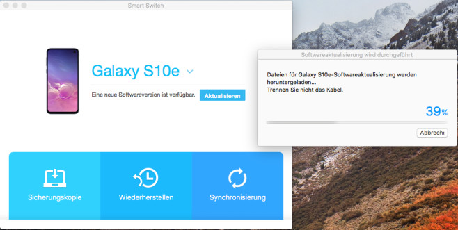 Screenshot 1 - Samsung Smart Switch (Mac)