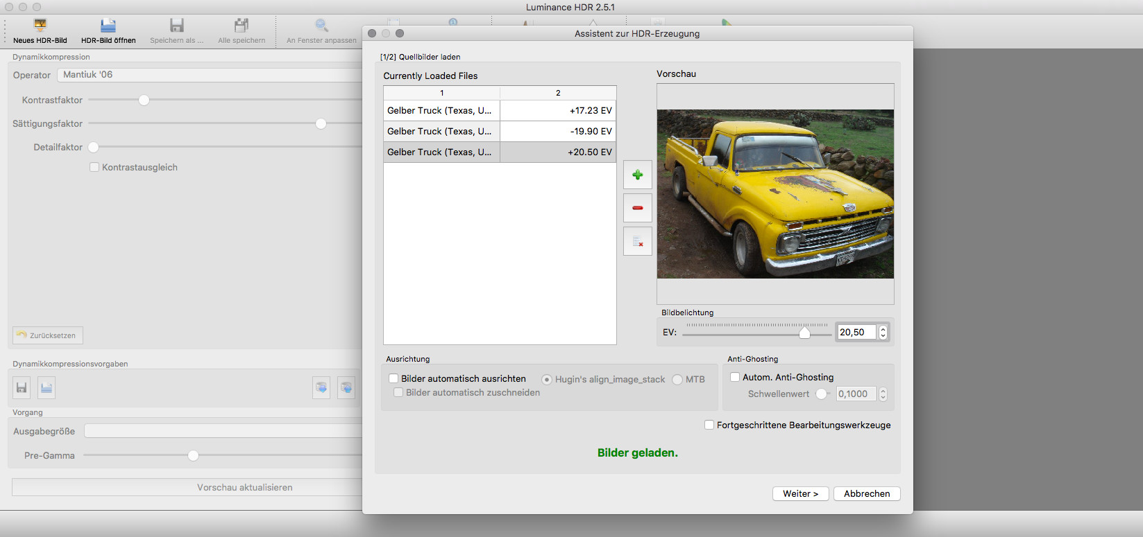 Screenshot 1 - Luminance HDR (Mac)