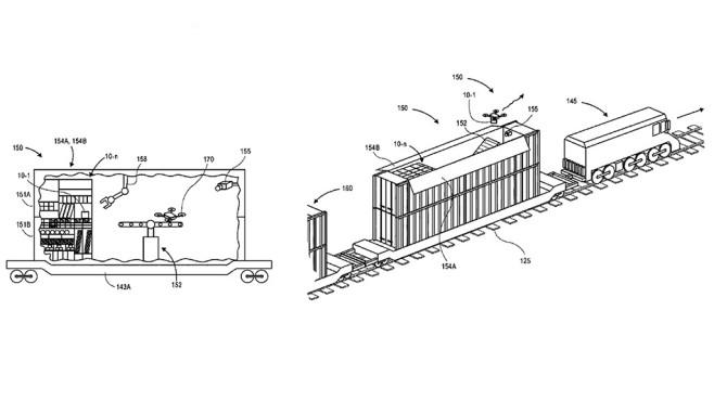 Amazon: Mobile Station für Drohnen©Amazon, USPTO
