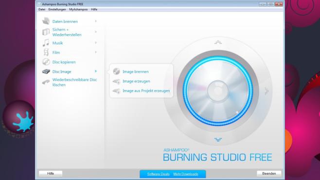 Platz 20: Ashampoo Burning Studio Free – Kostenlose Vollversion (neu) ©COMPUTER BILD