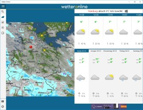 WetterOnline (App für Windows 10 & 8)