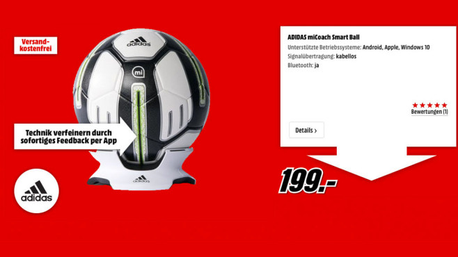 Adidas miCoach Smart Ball © Adidas