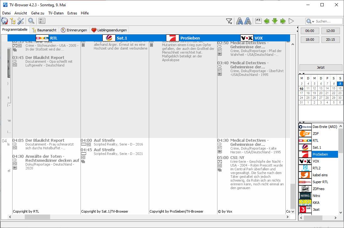 Screenshot 1 - TV-Browser