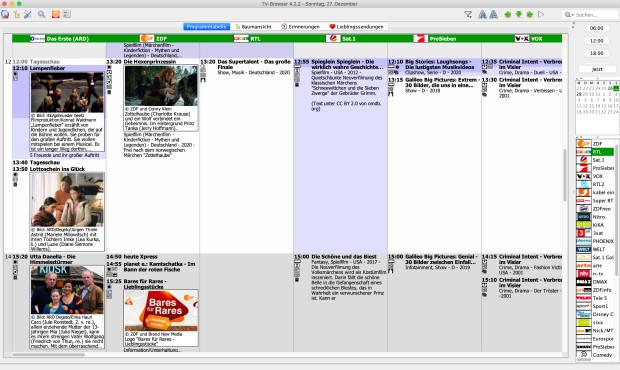Screenshot 1 - TV-Browser (Mac)