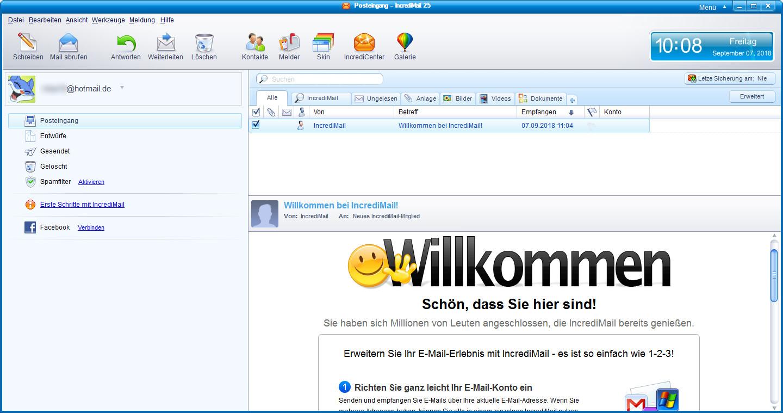 Screenshot 1 - IncrediMail