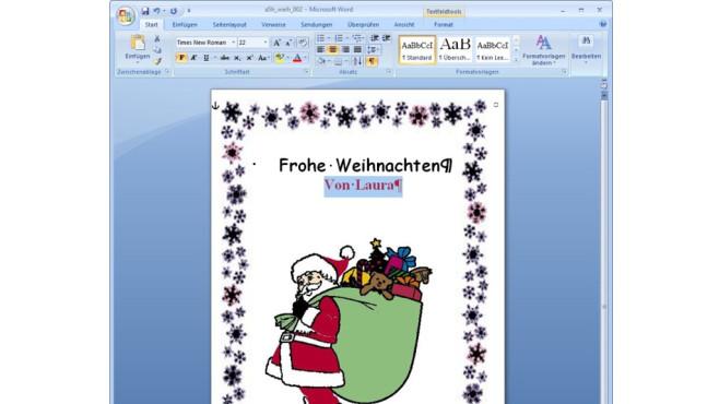 Gratis Office Vorlagen Zu Weihnachten Computer Bild