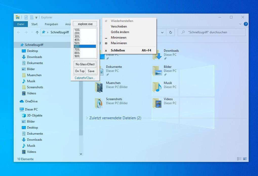 Screenshot 1 - Glass2K