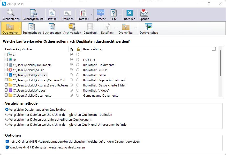 Screenshot 1 - AllDup