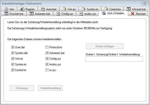 Screenshot 1 - Autostartmanager