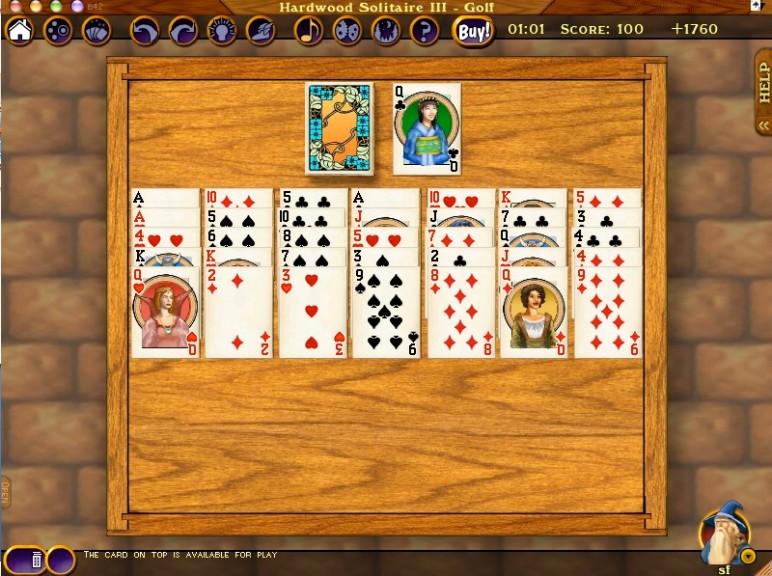 Screenshot 1 - Hardwood Solitaire (Mac)