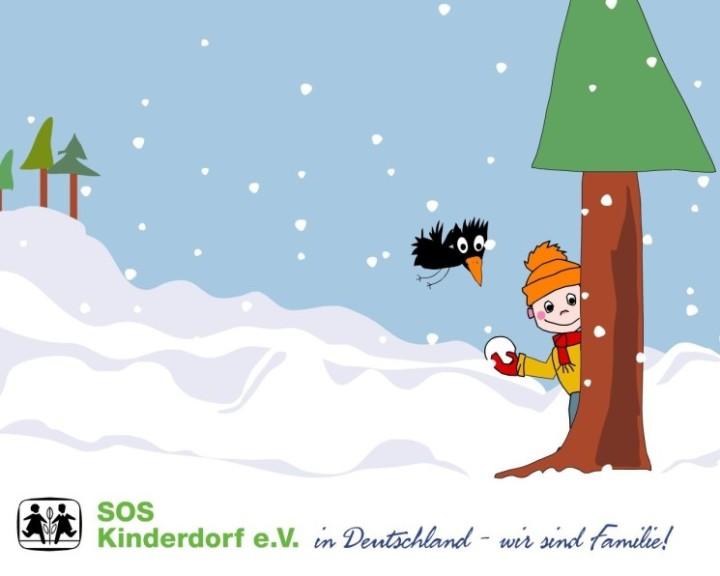 Screenshot 1 - SOS-Kinderdorf Winter Screensaver (Mac)