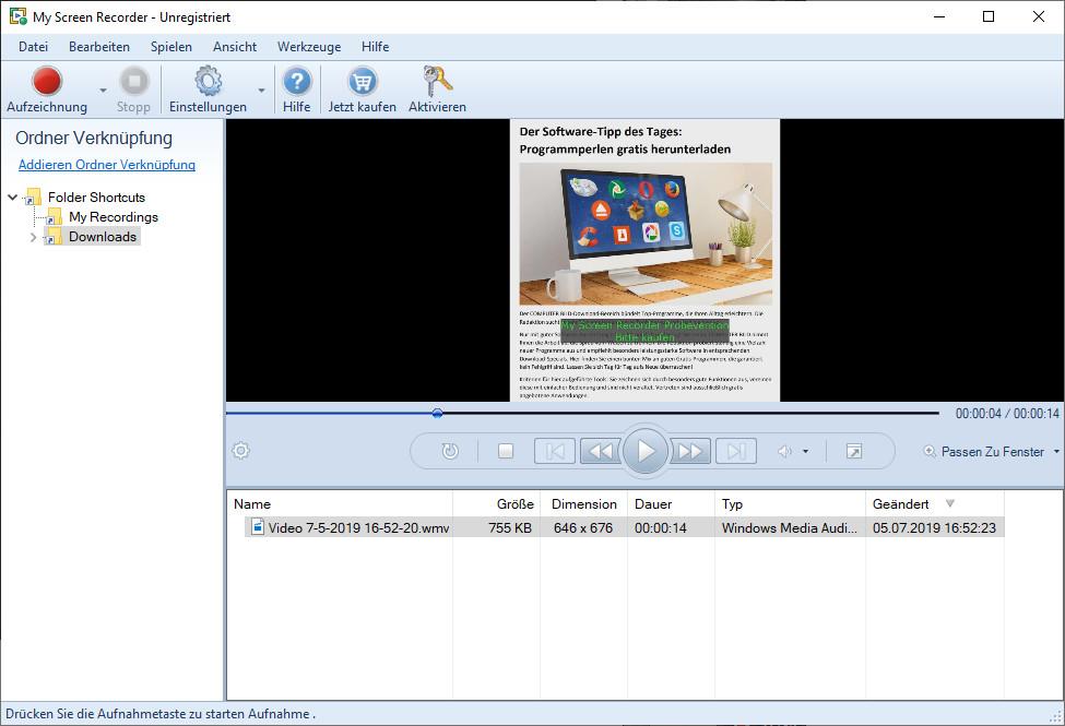 Screenshot 1 - My Screen Recorder