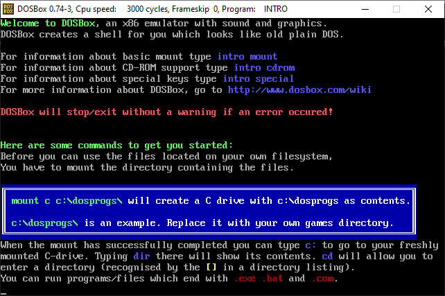 Screenshot 1 - DOSBox