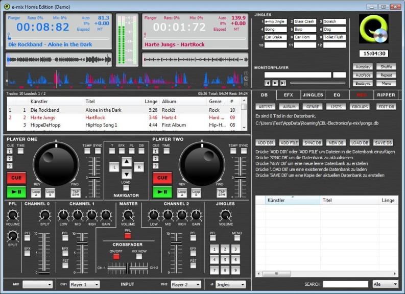 Screenshot 1 - E-Mix Home Edition