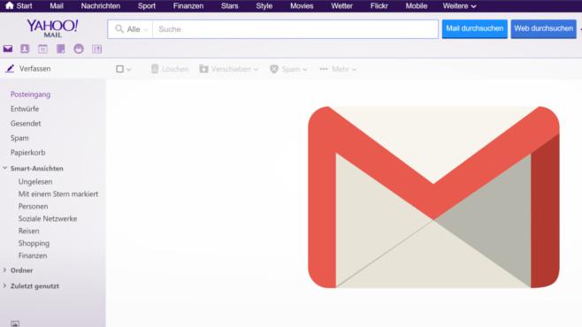 Yahoo Mail©Yahoo/Google