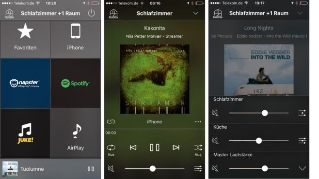 Yamaha Restio ISX-80 Die App zeigt übersichtlich die Auswahl der verfügbaren Musikquellen, führt flott auch durch große Musiksammlungen und erlaubt feinfühlige Klangreglung für alle vernetzten Lautsprecher.©COMPUTER BILD