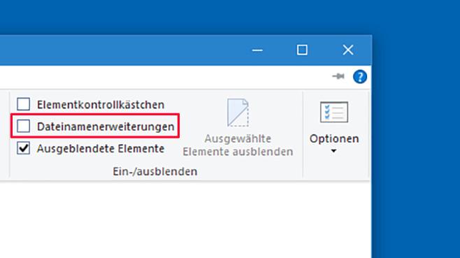 Windows 10: Alle Dateiendungen einblenden ©COMPUTER BILD
