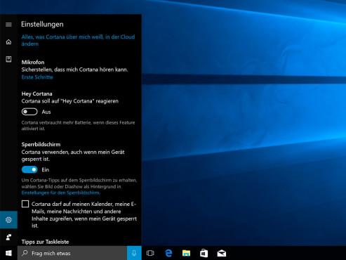 Windows 10: Cortana – neue Fähigkeiten ©COMPUTER BILD