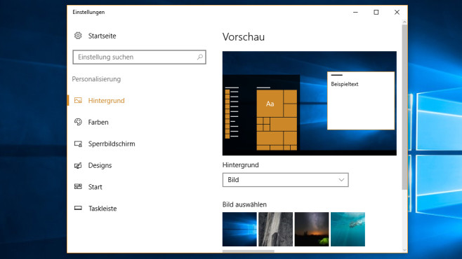 Windows 10: Desktop-Hintergrund tauschen ©COMPUTER BILD