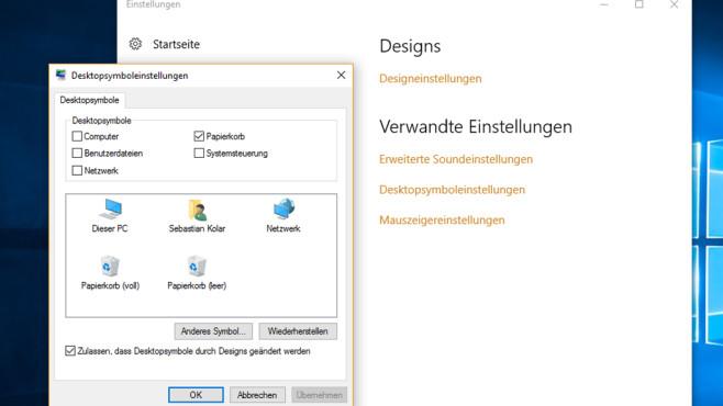 Windows 10: Desktop-Icons ergänzen ©COMPUTER BILD