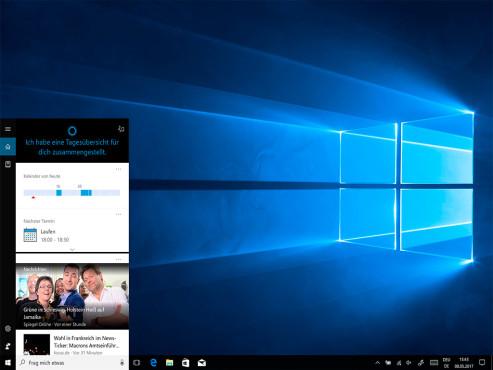 Windows 10: Die Sprachassistentin Cortana ©COMPUTER BILD