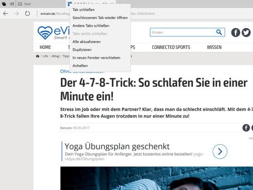 Windows 10: Edge mit Tab-Funktionen ©COMPUTER BILD