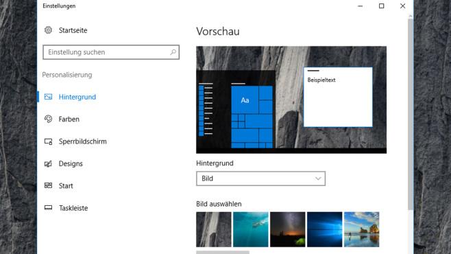 Windows 10: Einstellungen-App ©COMPUTER BILD