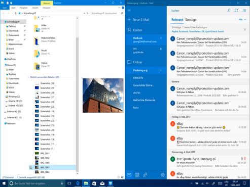 Windows 10: Fenstergröße verstellen ©COMPUTER BILD