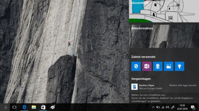 Windows 10: Mit Windows-Ink malen ©COMPUTER BILD