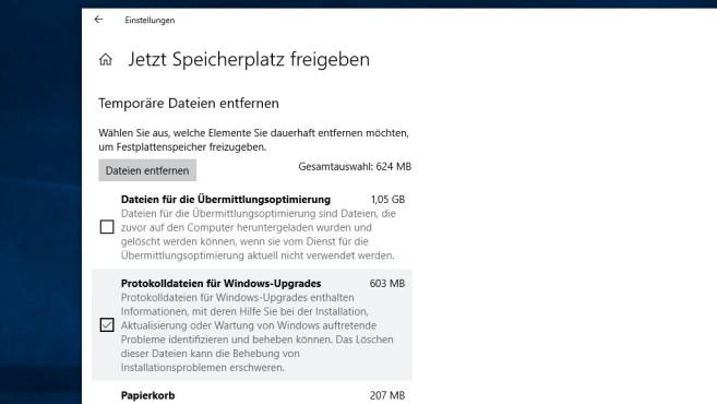 Windows 10: Speicherplatz freigeben ©COMPUTERBILD