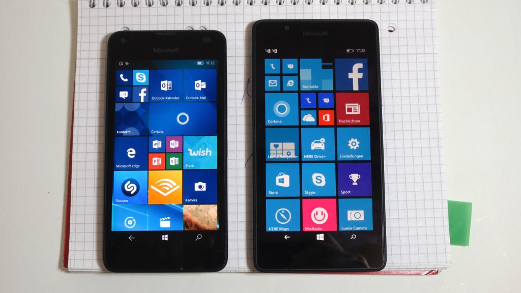 Lumia 550 und Lumia 540©COMPUTER BILD