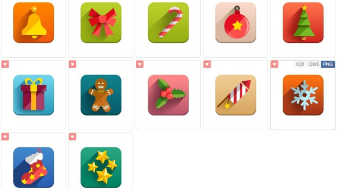 New Year Flat Icons: Symbolsammlung für Windows ©COMPUTER BILD