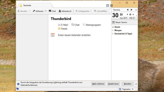 Thunderbird: Andere per Mail grüßen, Termine überblicken ©COMPUTER BILD