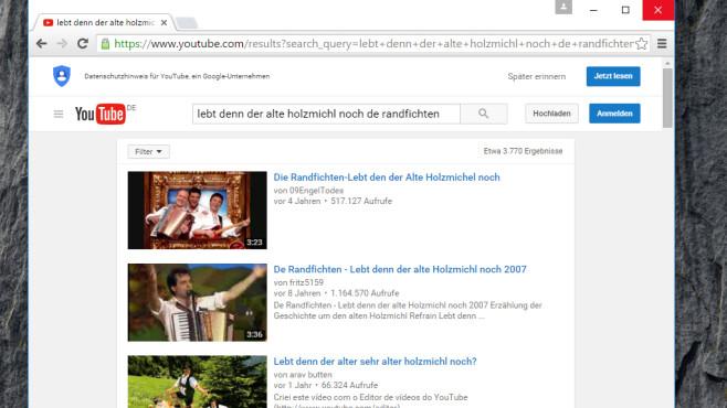 YouTube: Musikvideos nach Wahl aufrufen ©COMPUTER BILD