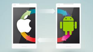 Umzug von Android zu iOS©Apple, Google / Montage: COMPUTER BILD