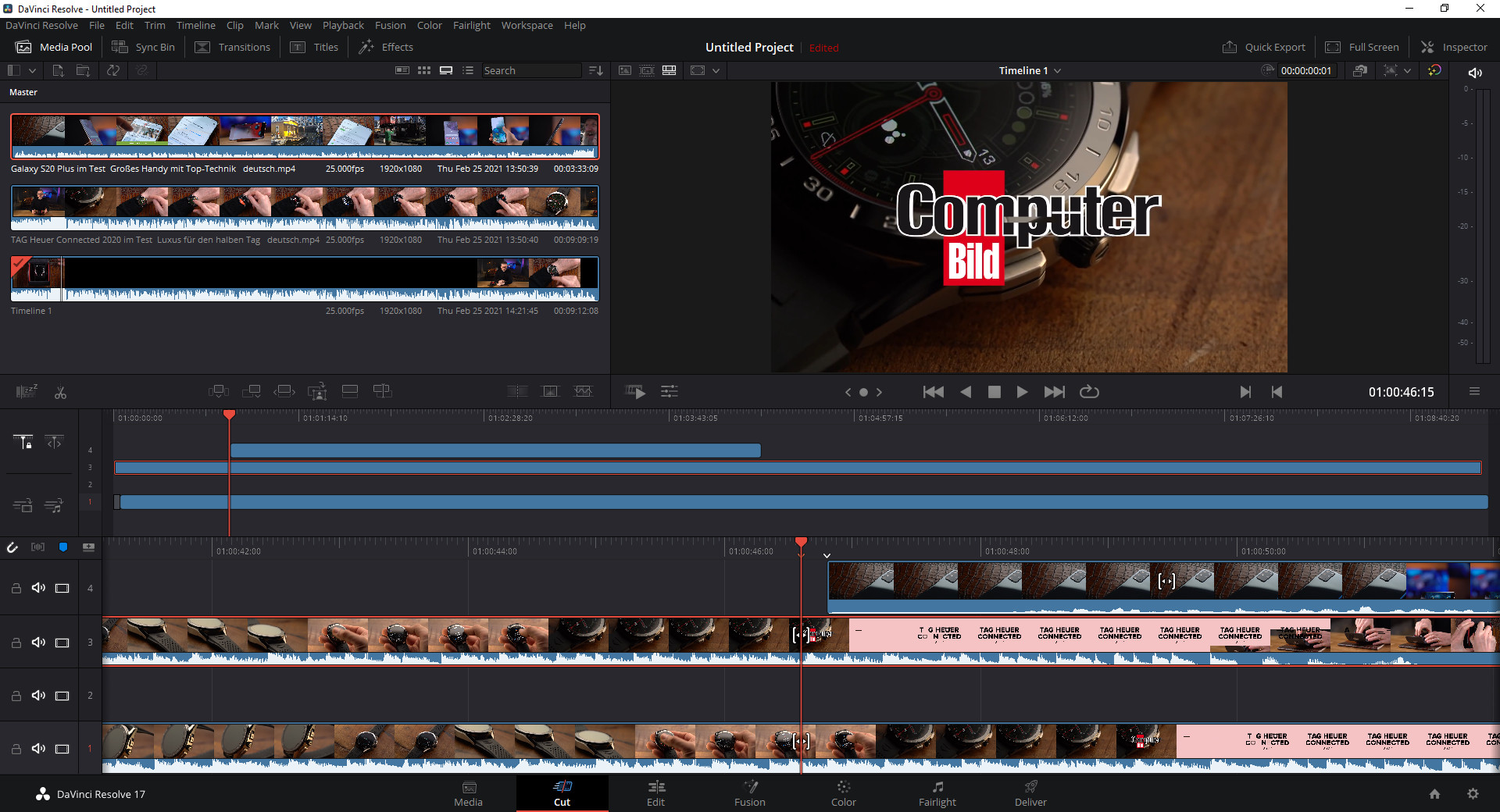Screenshot 1 - DaVinci Resolve