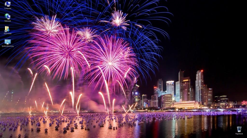 Screenshot 1 - Fireworks-Theme für Windows 7, 8 und 10