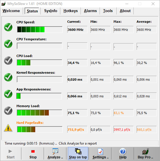 Screenshot 1 - WhySoSlow