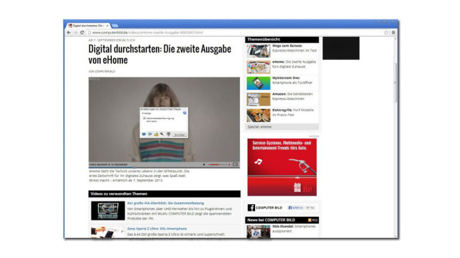 Adobe Flash Player © COMPUTER BILD