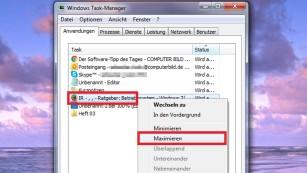 Windows 7/8/10: Fenster lässt sich nicht maximieren©COMPUTER BILD
