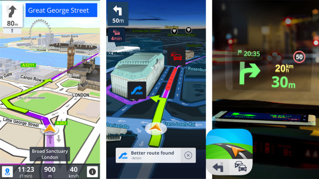 Sygic – GPS Navigation, Karten, Verkehr, Blitzer ©Sygic