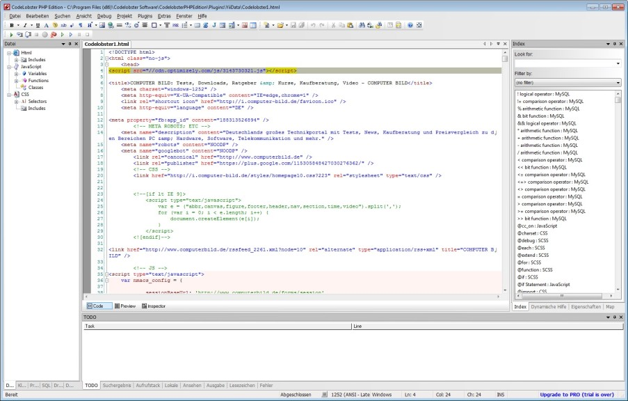 Screenshot 1 - CodeLobster PHP Edition