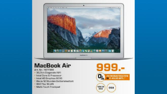 Apple MacBook Air 13 Zoll 2015 (MJVE2D/A) ©Saturn