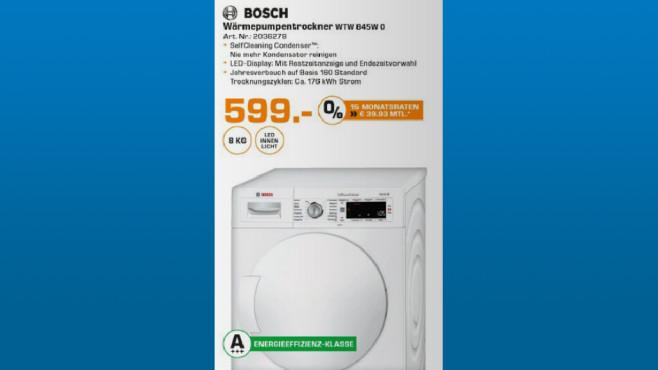 Bosch WTW845W0 ©Saturn
