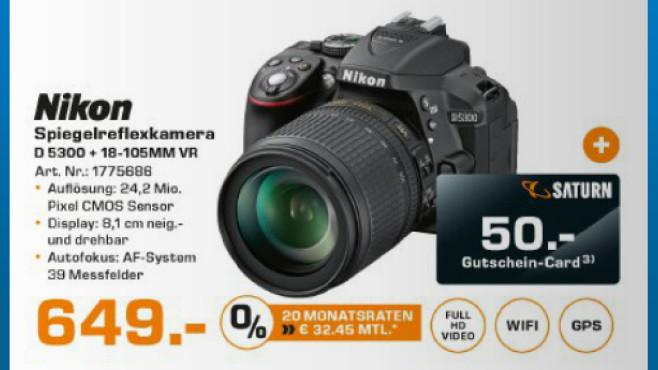 Nikon D5300 Kit 18-105 mm ©Saturn
