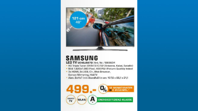 Samsung UE48J5670 ©Saturn