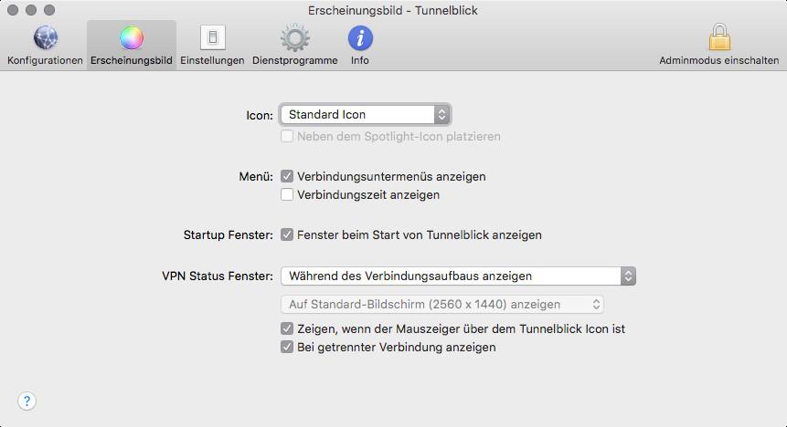 Screenshot 1 - Tunnelblick (Mac)