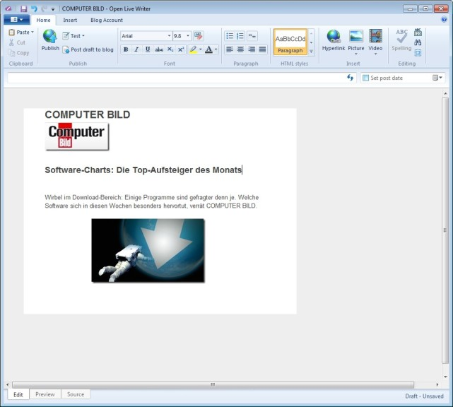 Screenshot 1 - Open Live Writer