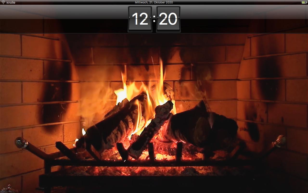 Screenshot 1 - Kamin HD Bildschirmschoner (Mac)